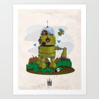 Monster robot toy Art Print