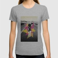 Skater Girl Womens Fitted Tee Athletic Grey SMALL