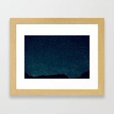 Desert Stars Framed Art Print