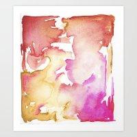 pink wash Art Print