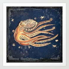 SPACEpolpo -   space octopus Art Print