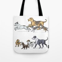 Trotting Terriers Tote Bag