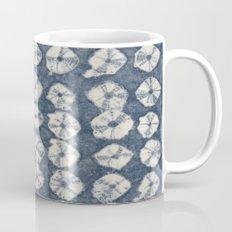 Indigo Spiderweb Shibori Mug