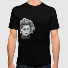 Scissorhands Black Mens Fitted Tee SMALL
