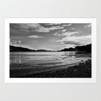 Isle of Kerrera beach B&W Art Print