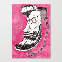 Hipster Mask Canvas Print