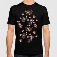 Game Grumps Pattern Mens Fitted Tee Black SMALL