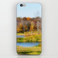 Fall At The Ponds iPhone & iPod Skin