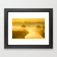 Mist Of Gold Framed Art Print