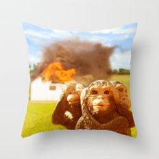 Monkeys Make Bad Pets. Throw Pillow
