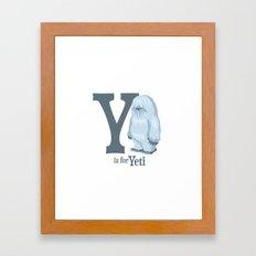 Y is for Yeti Framed Art Print
