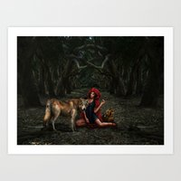 Art Print featuring Red Riding Hood by Viggart
