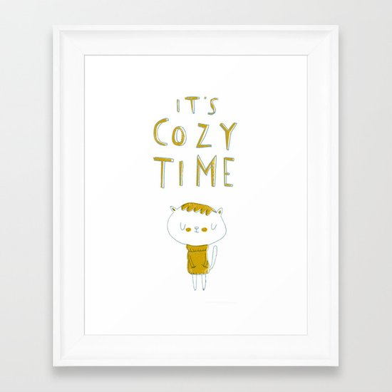 it's cozy time Framed Art Print