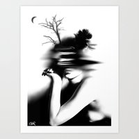 the mystery of never Art Print