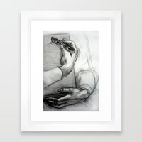 Mona's eyes Framed Art Print