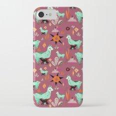 Llama At Dusk pattern iPhone 7 Slim Case