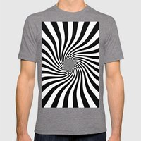 Swirl (Black/White) Mens Fitted Tee Tri-Grey SMALL