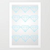 Diamonds Are A Girls Bes… Art Print