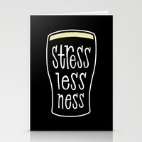 a pint of stout: stresslessness Stationery Cards