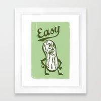Easy Peanut Framed Art Print