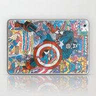 Vintage Comic Capt Ameri… Laptop & iPad Skin