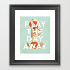 Play The Day Away Framed Art Print