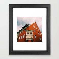 Biergarten View Framed Art Print