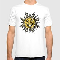 Sun Face - Original Yell… Mens Fitted Tee White SMALL