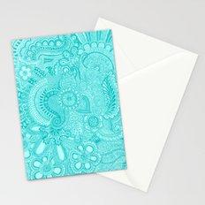 millions aqua Stationery Cards