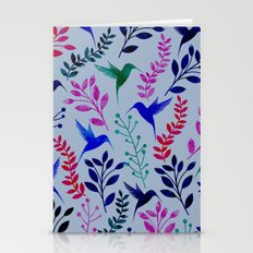 Watercolor Floral & Birds  Stationery Cards