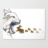 Linx vs. Rabbit Canvas Print