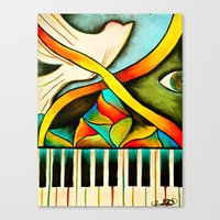Piano- Behold Canvas Print