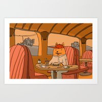 Art Print featuring American Fast Food by Les Gordon