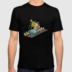 Christmas SMALL Mens Fitted Tee Black