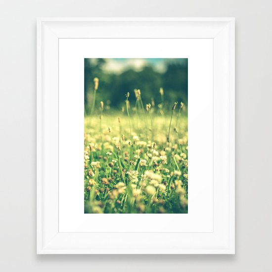 My Heart Was Wrapped in Clover (the night I looked at you) Framed Art Print