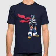 Megaman X Mens Fitted Tee Navy SMALL