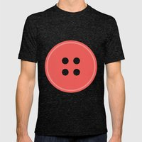 #63 Button Mens Fitted Tee Tri-Black SMALL