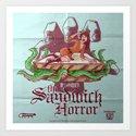 H.P. LoveKRAFT's  The Sandwich Horror Art Print