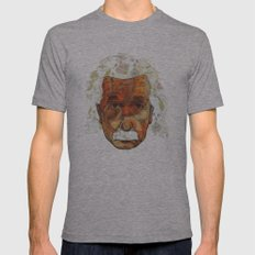 Einstein Mens Fitted Tee Athletic Grey SMALL