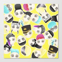 BIGBANG Collage (Yellow) Canvas Print