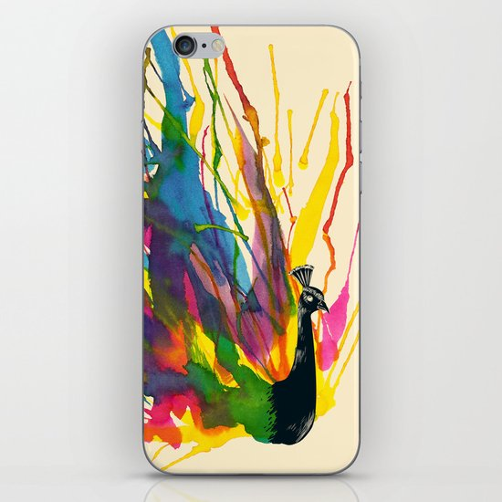 Colorful Peacock iPhone & iPod Skin
