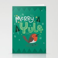 Merry Yule Greetings Des… Stationery Cards