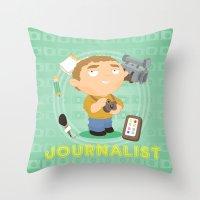 Journalist Throw Pillow
