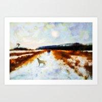 LANDSCAPE - Broadland walk Art Print