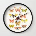Moth Identification Chart Wall Clock