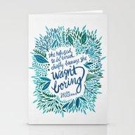 Stationery Cards featuring Zelda Fitzgerald – Blu… by Cat Coquillette