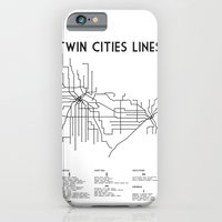 Twin Cities Lines Map iPhone 6 Slim Case