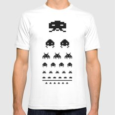 Gamers eye test Mens Fitted Tee SMALL White