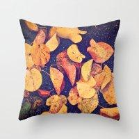 Fallen Yellow Leaves Throw Pillow