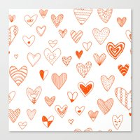 Fun Hearts Canvas Print